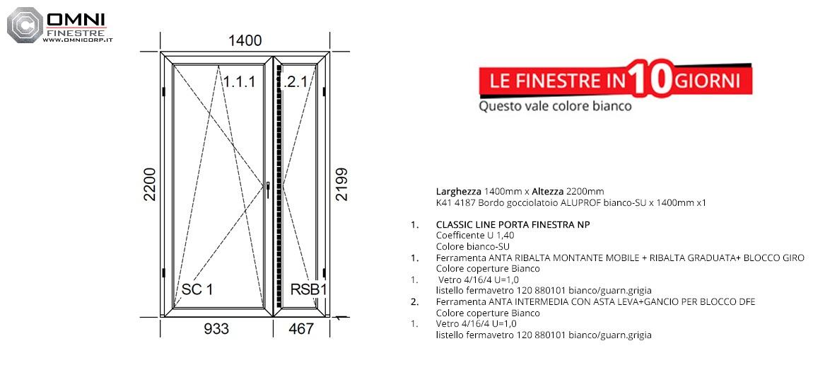 Dimensioni Porta Finestra A Due Ante.Altezza Porta Finestra Mobilia